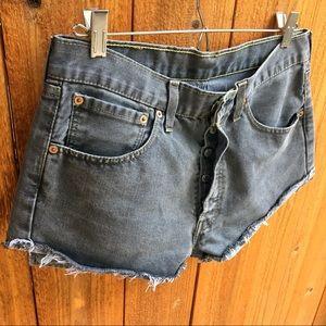 Vintage 501 button fly cutoff shorts
